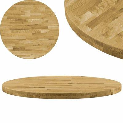 Tafelblad rond 44 mm 400 mm massief eikenhout