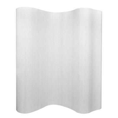 Kamerscherm wit bamboe 250x195 cm