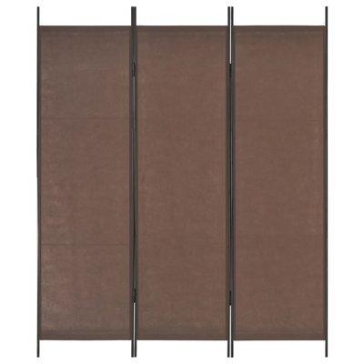 Kamerscherm met 3 panelen 150x180 cm bruin