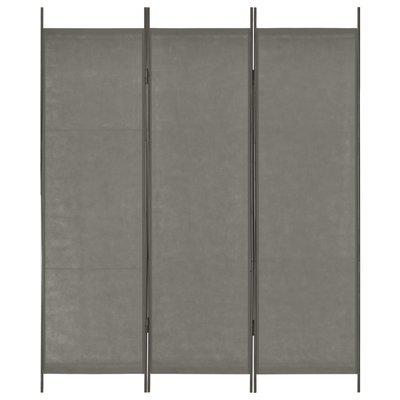 Kamerscherm met 3 panelen 150x180 cm antraciet