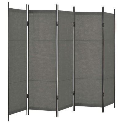Kamerscherm met 5 panelen 250x180 cm antraciet