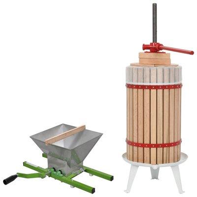 2-delige Fruit en wijnpers met stamperset