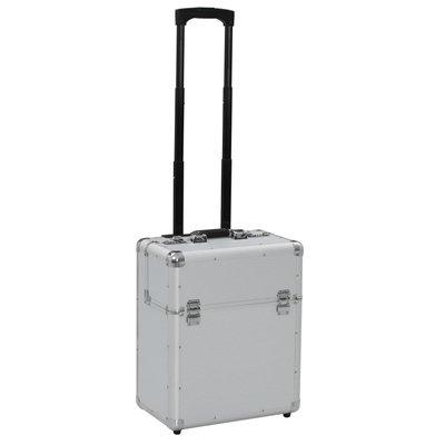 Pilotentrolley 39x47x25 cm aluminium zilverkleurig