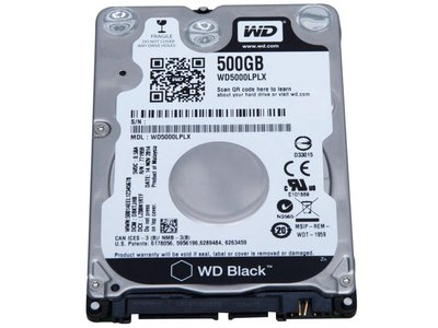 HDD WD Black™ 500GB - 7200RPM - 2.5inch - 32MB - SATA3