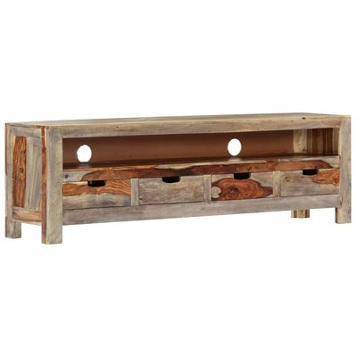 TV-meubel 130x30x40 cm massief sheeshamhout