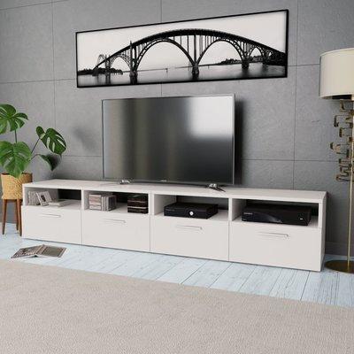 Tv-meubel 95x35x36 cm spaanplaat wit 2 st