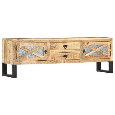 Tv-meubel 140x30x45 cm massief mangohout