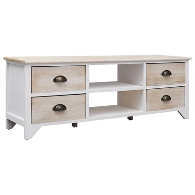Tv-meubel 115x30x40 cm hout naturel