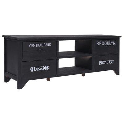 Tv-meubel 115x30x40 cm hout zwart