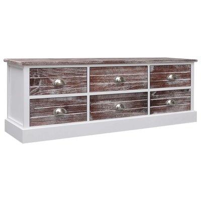 Tv-meubel 115x30x40 cm hout bruin