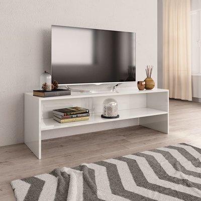 Tv-meubel 120x40x40 cm spaanplaat hoogglans wit