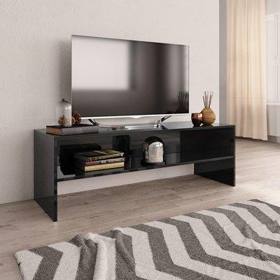 Tv-meubel 120x40x40 cm spaanplaat hoogglans zwart