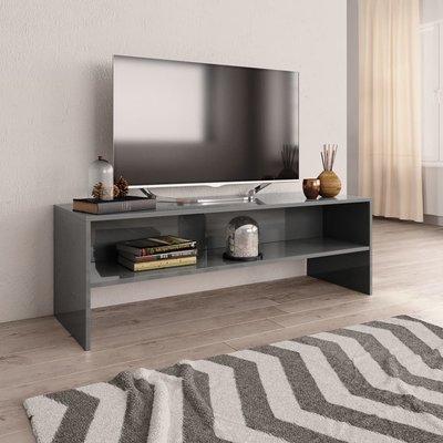 Tv-meubel 120x40x40 cm spaanplaat hoogglans grijs