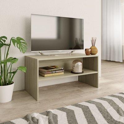 Tv-meubel 80x40x40 cm spaanplaat Sonoma eikenkleur