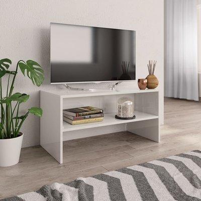 Tv-meubel 80x40x40 cm spaanplaat hoogglans wit