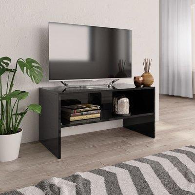 Tv-meubel 80x40x40 cm spaanplaat hoogglans zwart