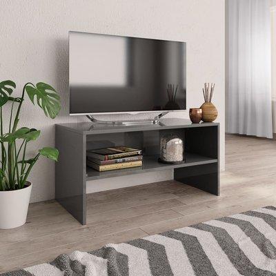Tv-meubel 80x40x40 cm spaanplaat hoogglans grijs