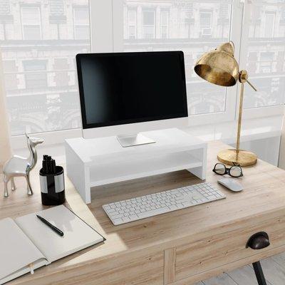 Monitorstandaard 42x24x13 cm spaanplaat wit