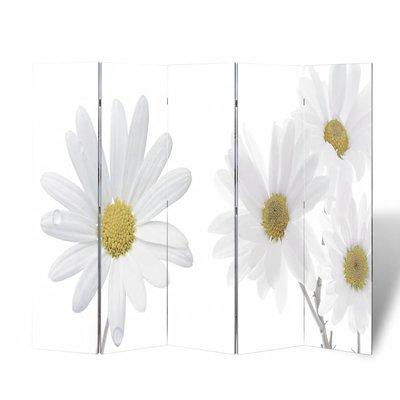 Kamerscherm inklapbaar bloem 200x170 cm