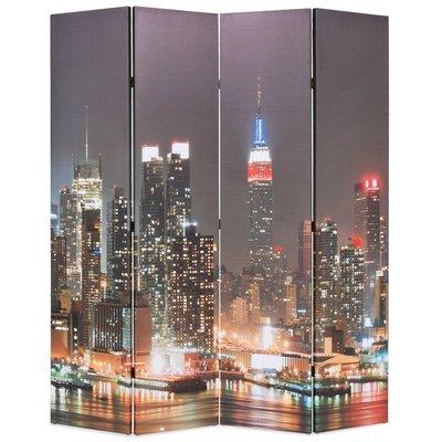 Kamerscherm inklapbaar New York bij nacht 160x170 cm