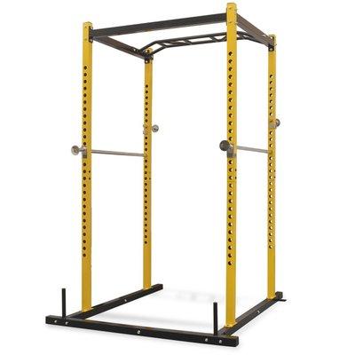 Fitnessapparaat 140x145x214 cm geel en zwart