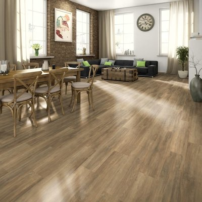 Laminaat vloerplanken 74,4 m² 7 mm Brown Ampara Oak