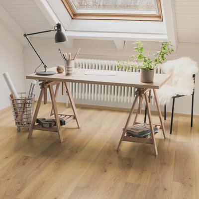 Laminaat vloerplanken 19,9 m² 8 mm Oak Trilogy Natural
