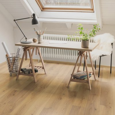 Laminaat vloerplanken 43,78 m² 8 mm Oak Trilogy Natural