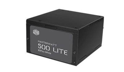 Cooler Master MasterWatt Lite power supply unit 500W ATX Zwart