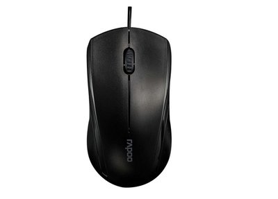 Rapoo Wired 1000 dpi optical Silent mouse - Black