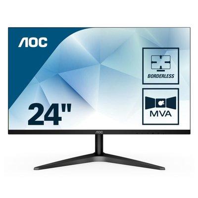 Mon AOC 23.6 F-HD / Borderless / HDMI / VGA / Black
