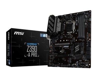 MB MSI Z390-A PRO / 1151 8th comp / m.2  / 4x DDR4 / ATX