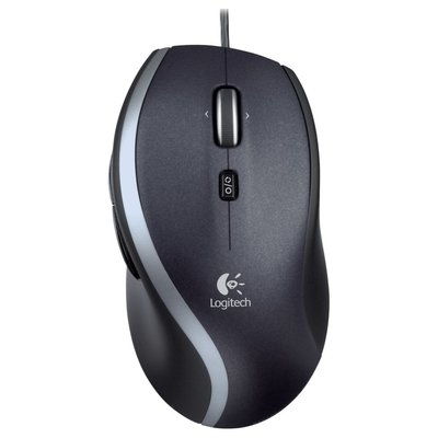 Logitech Ret. Mouse Optical Black M500 Ergonomisch