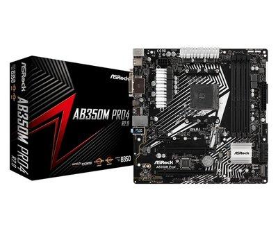 MB Asrock AB350M Pro4 AM4 R2.0 8th comp/4xDDR4 /USB3/mATX