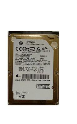 "HDD Hitachi PULLED Apple / 250GB / 2,5"" / 5400 /  SATA"