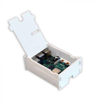 Behuizing voor Raspberry PI 4 met klepje wit