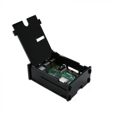 Behuizing voor Raspberry PI 4 met klepje zwart
