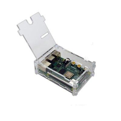 Behuizing voor Raspberry PI 4 met klepje transparant