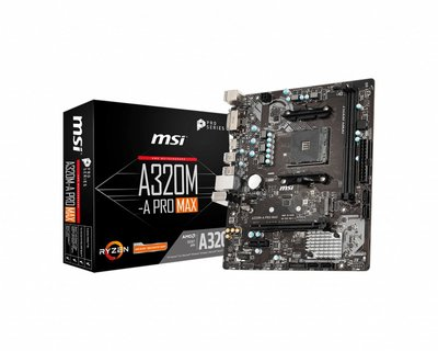 MSI A320M-A PRO MAX Socket AM4 micro ATX AMD A320