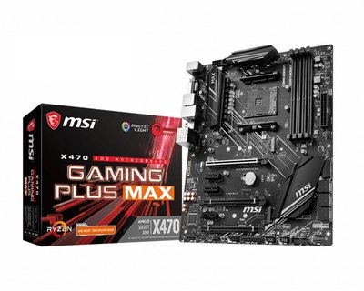 MSI X470 Gaming Plus Max Socket AM4 ATX AMD X470
