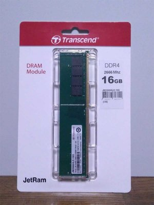 Transcend JetRam JM2666HSE-16G geheugenmodule 16 GB 1 x 16 GB DDR4 2666 MHz