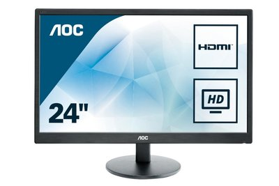 "AOC Basic-line E2470SWH LED display 61 cm (24"") 1920 x 1080 Pixels Full HD LCD Zwart"