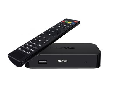 MAG 322 hevc iptv set-top box