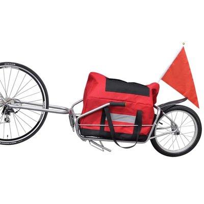 Fietskar voor vracht met één wiel en opbergzak