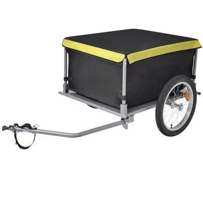 Fietskar zwart en geel 65 kg