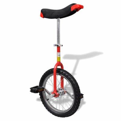 Eenwieler verstelbaar (rood / 16 inch)