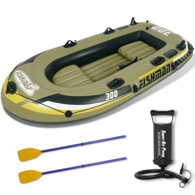 Opblaasbare boot met pomp en peddels 252 cm