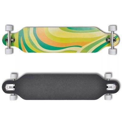 "Skateboard longboard star Esdoorn Aluminium 107 cm groen 9"""