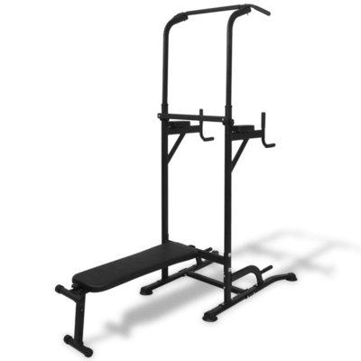 Fitness apparaat met sit-up bankje