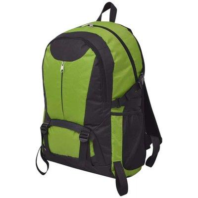 Hiking rugzak 40 L zwart en groen